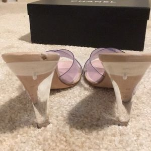 6c39590d3fd Chanel Clear Transparent PVC Mules Slides, sz 41